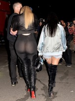 khloe kardashian flashes in see through outfit ftr